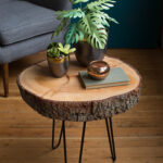 diy wood slice table hairpin slab accent would love see your tables please share with using diydreamingwithlia cheers lia team black patio chairs small garden narrow lamp half 150x150