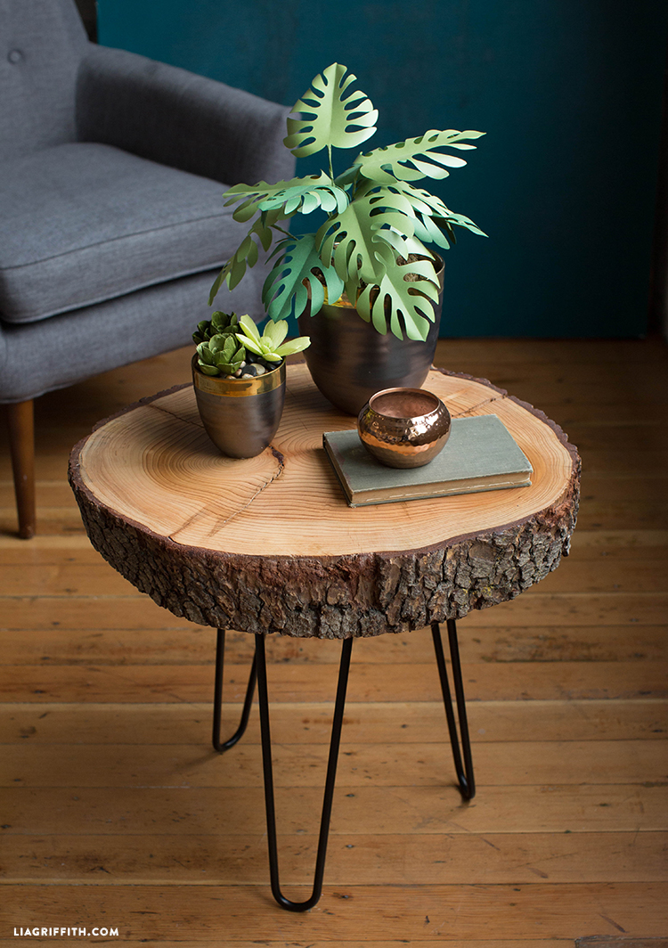 diy wood slice table hairpin slab accent would love see your tables please share with using diydreamingwithlia cheers lia team black patio chairs small garden narrow lamp half