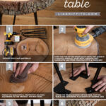 diy wood slice table tutorial accent oil finish hairpin legs save instructions person bar mid century entry better homes and gardens end modern glass cocktail extendable bbq prep 150x150