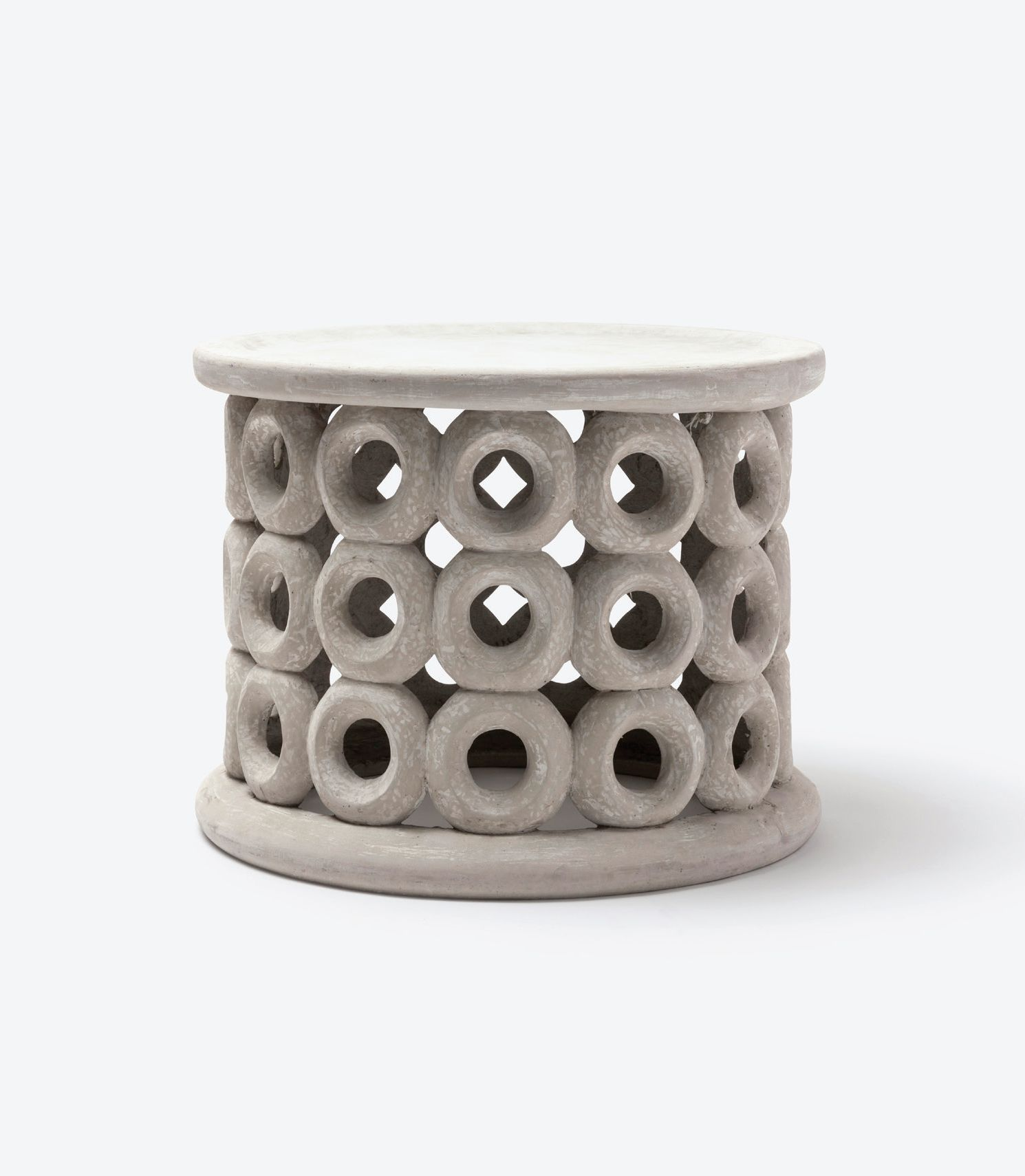dohnet concrete outdoor side table mecox gardens fnst donut ceramic pottery barn glass top teak silver accent round lamp tables for living room furniture chairs marble sofa