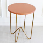 dolce vita style marble tulip side table nate berkus target round gold peach accent having second thoughts about the colored tabletop thinking sending back any takers was sold out 150x150