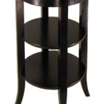 dolphins accent table winsome daniel with drawer black finish genoa inset glass two shelves beautiful centerpieces for dining room spindle legs decoration accessories square 150x150