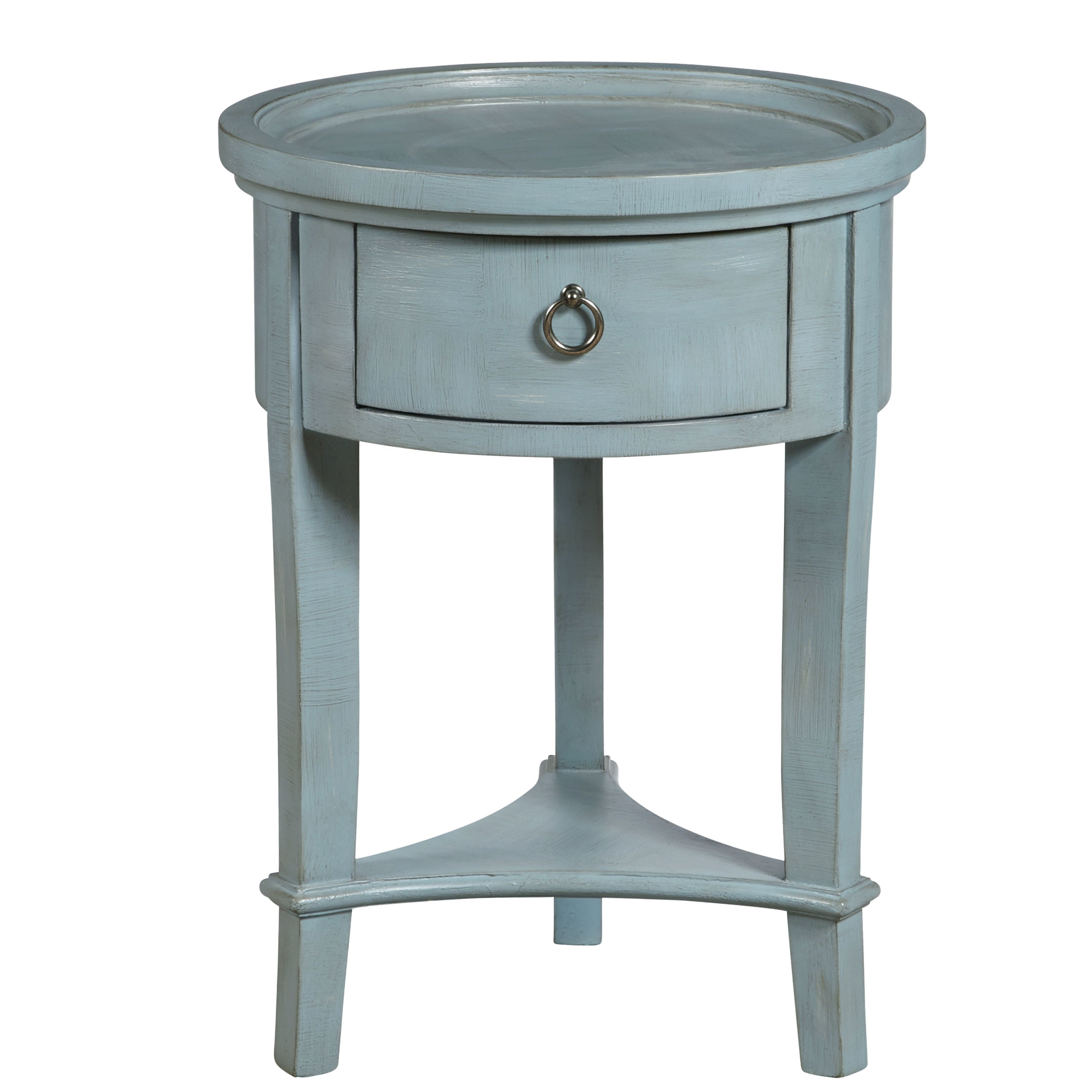 donna textured finished round accent table color blue products light target patio furniture clearance large wooden trestle pottery barn wheel coffee winsome wood beechwood end