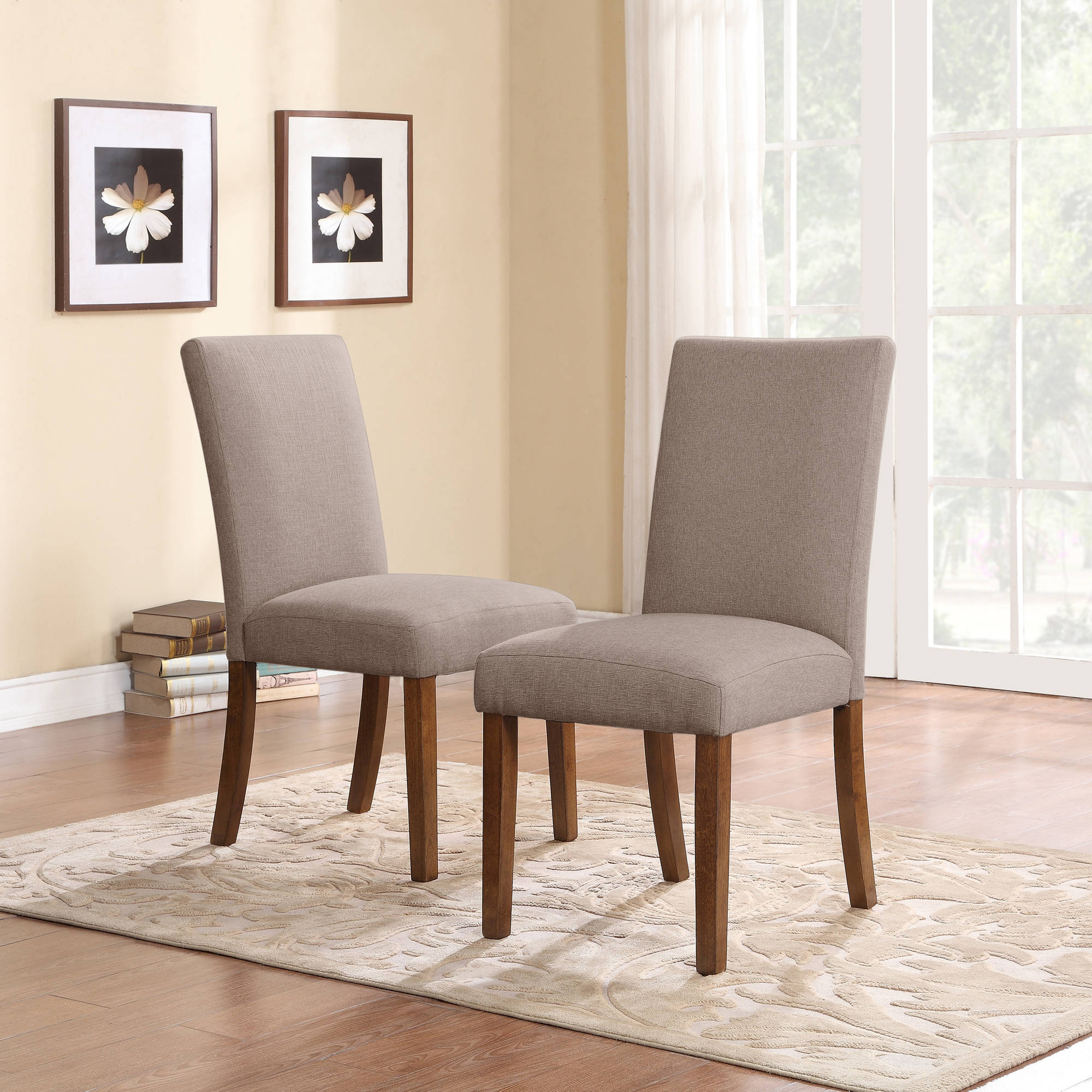 dorel living linen parsons chair set dark pine with gray pottery barn leather seats dining room sets macy sears coffee table light blue accent ikea chairs navy nailhead world