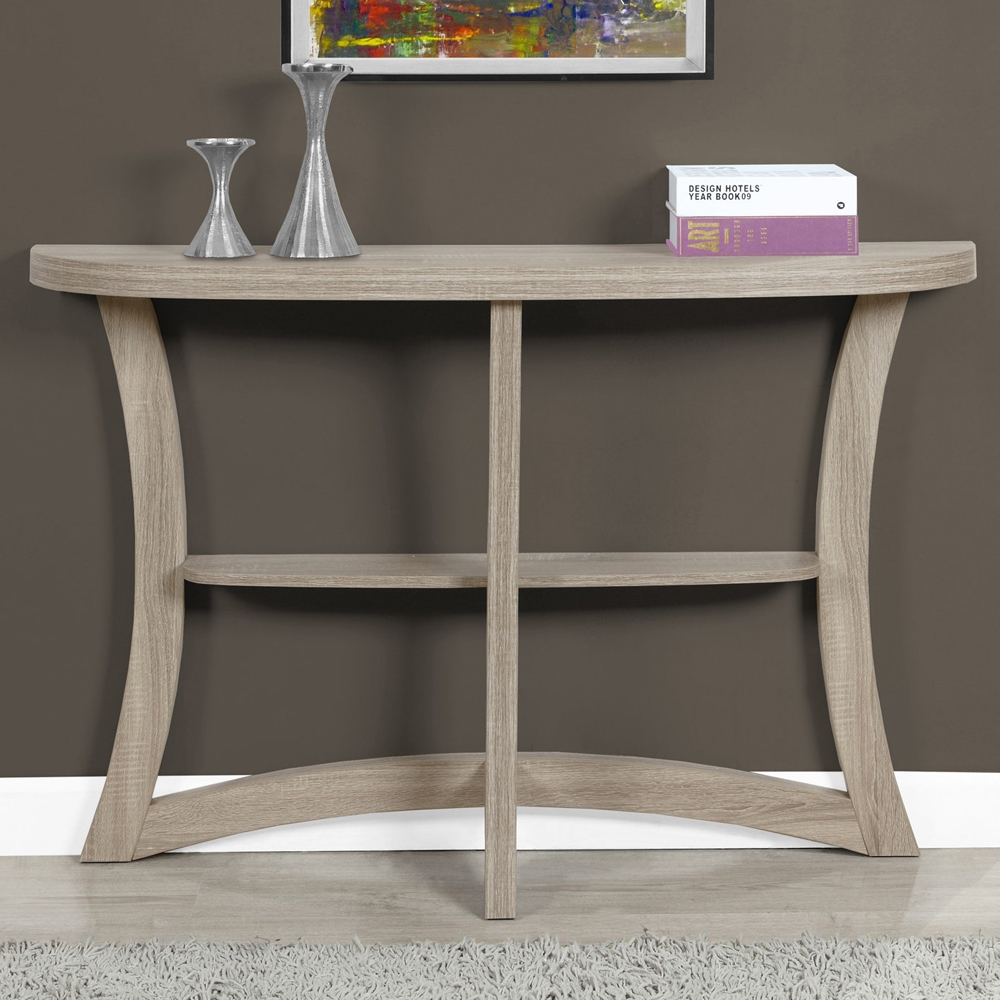 double curved accent table shelving with shelf glass top outdoor side bistro pub pedestal dining room tables moroccan tile gray coffee small and chairs ethan allen end used teal