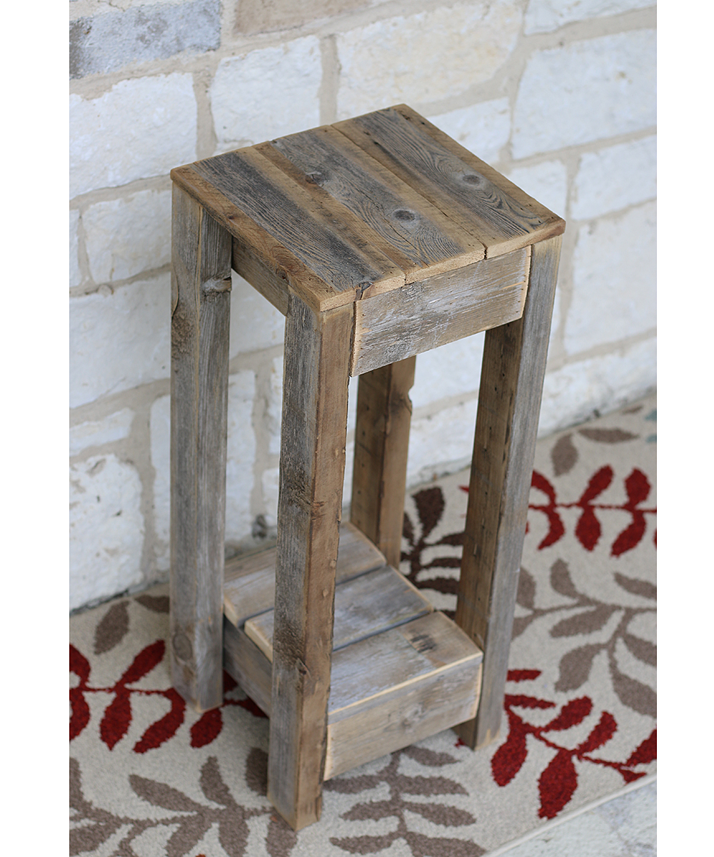 doug cristy designs natural reclaimed wood accent table zulily alt share small metal patio ashley furniture king custom hybrid oval lucite coffee iron unusual ideas farmhouse