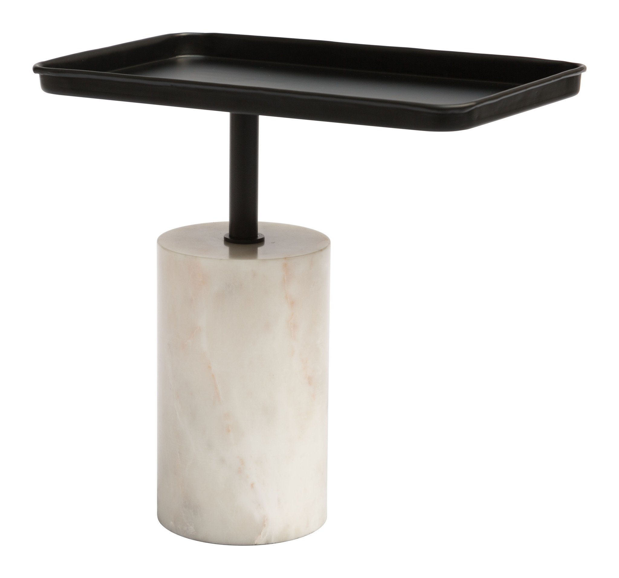 dover accent table with black iron top white marble column base side tables alan decor folding small cherry bunnings swing chair inch round tablecloth for screen porch furniture