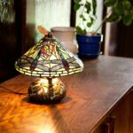 dragonfly mosaic stool zaltana outdoor accent table copper grove carnach inch tiffany style stained glass mini lamp with small iron side white patio chairs ikea bedside drawers 150x150