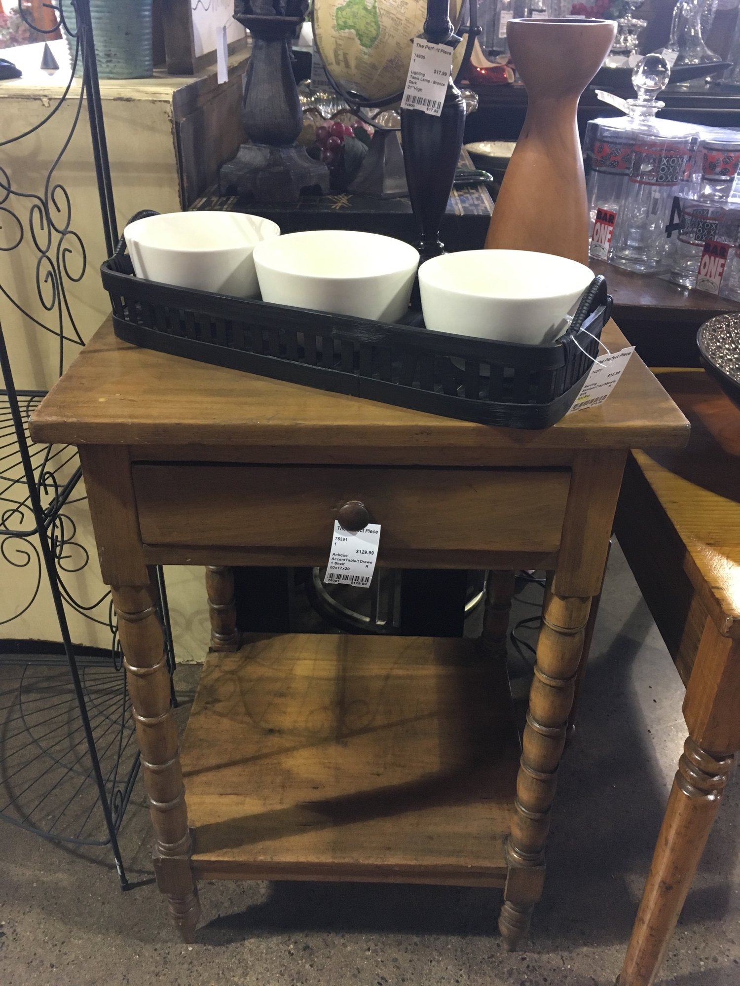 drawer accent table the perfect piece home furnishings game are you looking for that cool antique your family room west elm desk lamp large dining kitchen placemats mirrored