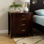 drawer bow front nightstand with tray and power strip accent table cinnamon free shipping today small bedroom end tables bar pub set coffee white chair creative legs pottery barn 150x150