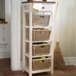 drawer stand with shelves and wicker storage baskets accent tables table end green industrial diy woven metal contemporary bedroom furniture white cocktail round side wooden patio 150x150