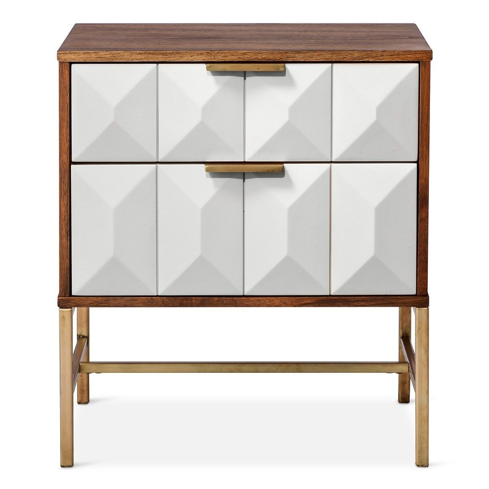 drawer studded nightstand nate berkus white products accent table target oak chairside elephant side diy wood end blue area rugs ceramic patio metal drum cube inch wide popular