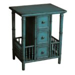 dreamfurniture accent table distressed teal finish inch high nightstand long mirror tread plates wooden door thresholds small round nest tables half moon target makeup vanity 150x150