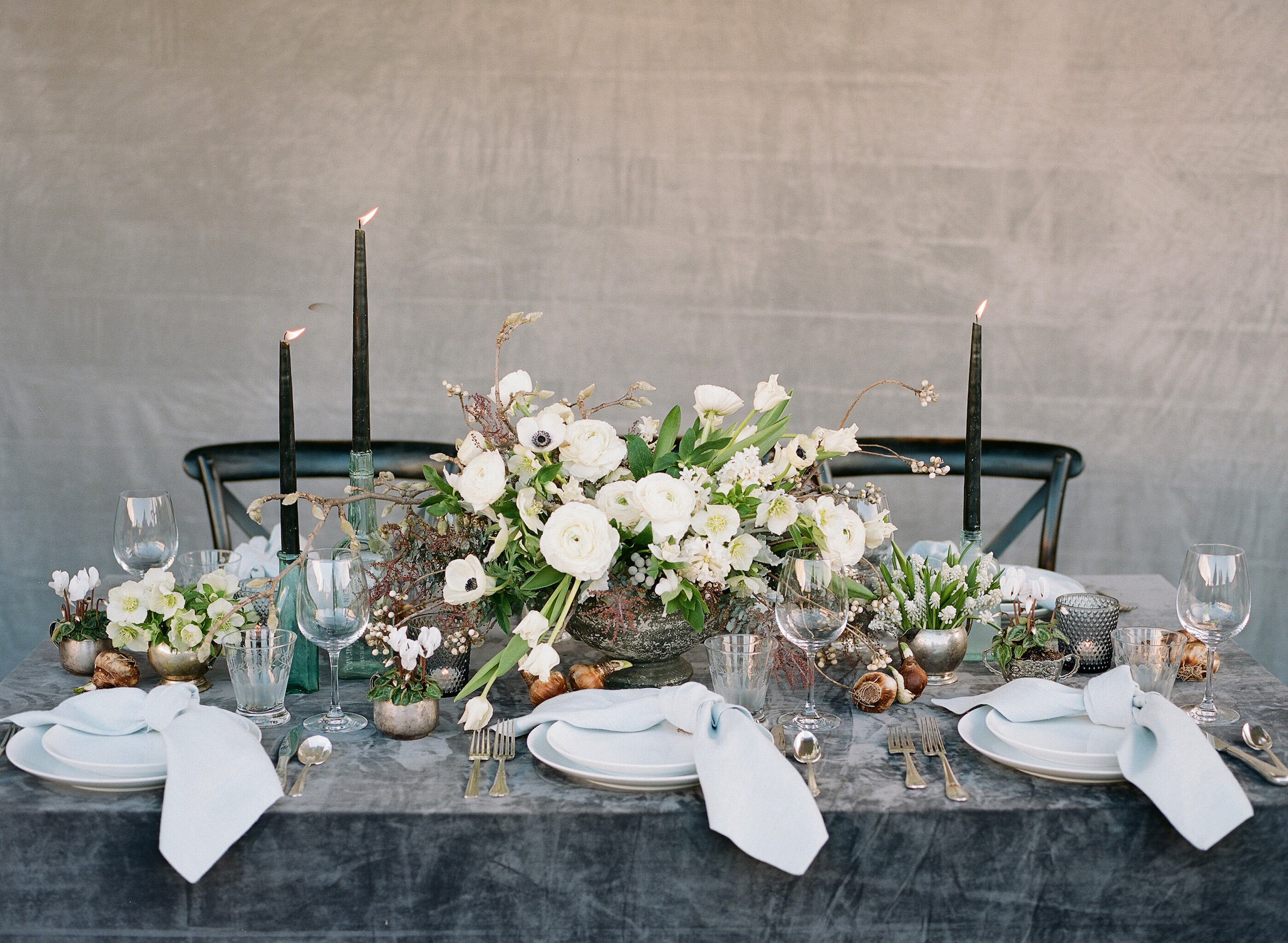 dress your table style tavola fine linen velvet charcoal anna potted planet christina mcneill graphy copy accent focus runner with from target patio coffee green marble top piece