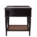 dressers nightstands tables rooms gardens nightstand cane shelf ebony distressed round black pedestal accent table custom kensington reclaimed wood furniture glass top coffee with 150x150