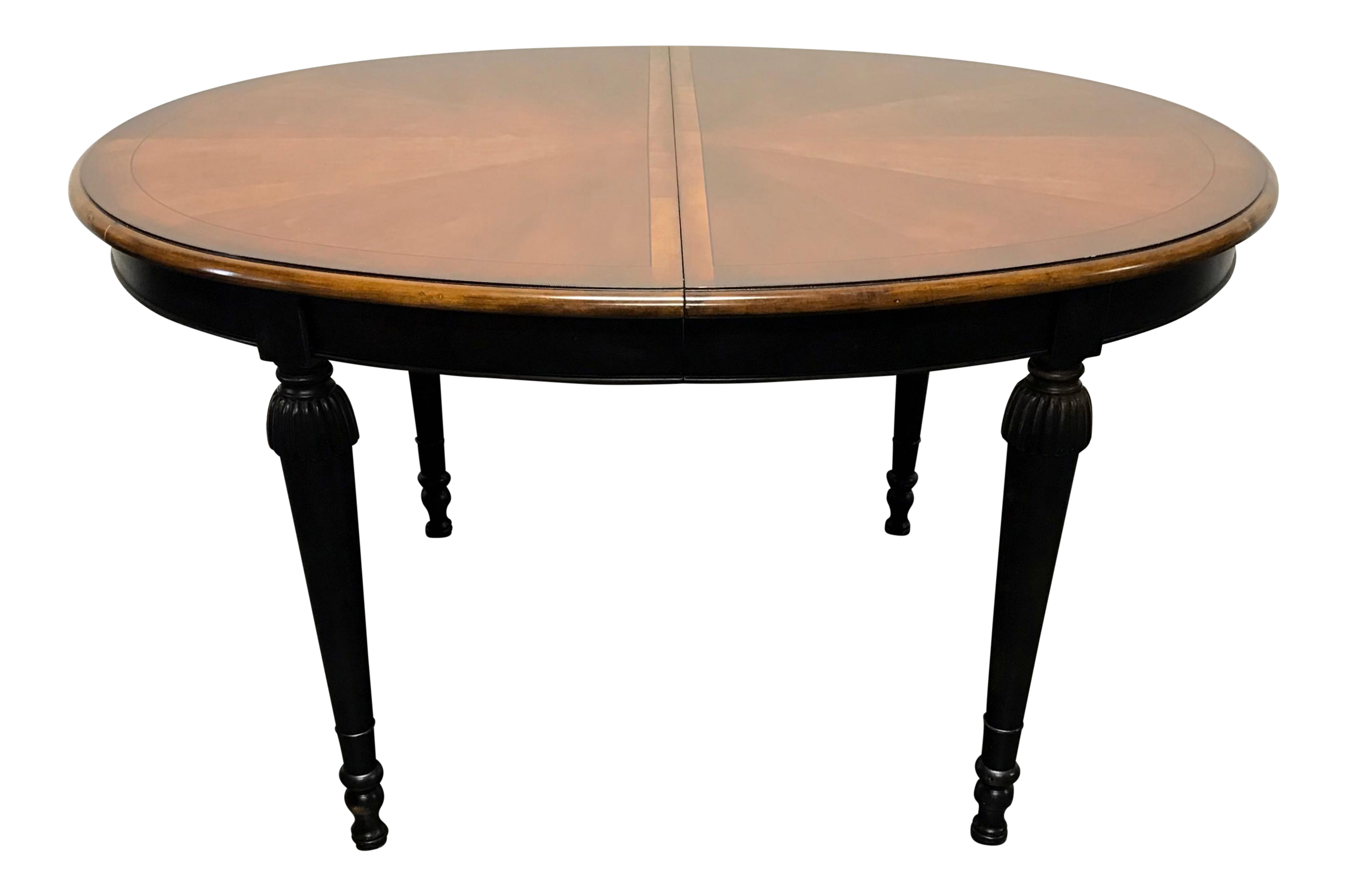drexel heritage accents francais collection banded cherry oval dining table chairish high end living room furniture teal metal side west elm ott industrial style coffee tables
