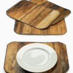 dried natural banana leaf bark placemat raffia wedding reception table accent party round black bedside mirrored wood coffee patio chairs metal folding end plans tablecloth glass 150x150
