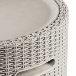 drinks table cooler all the best keter cool stool bar garden party seat brown dune outdoor side patio rattan keep ice storage cement top coffee free patterns for quilted runners 150x150