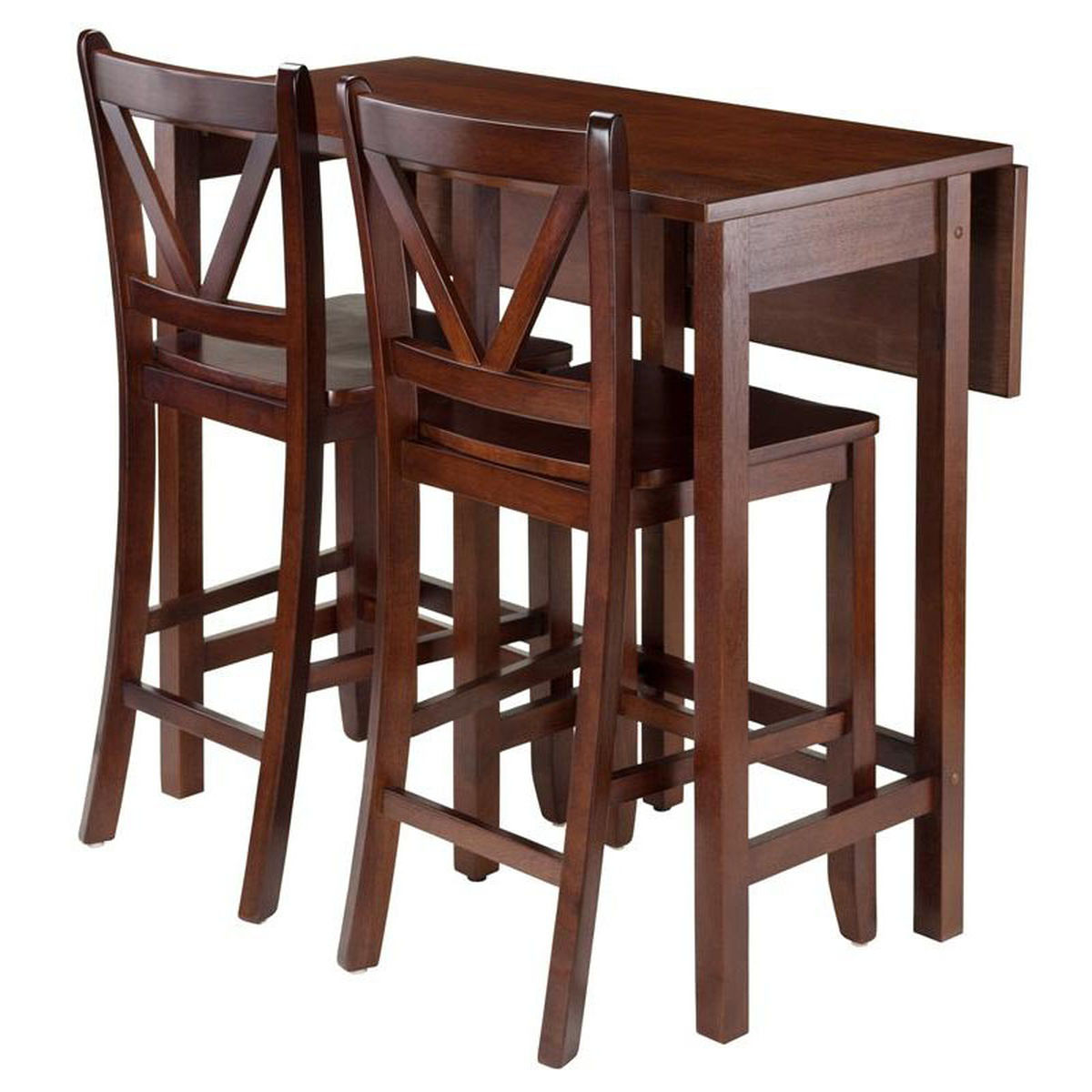 drop leaf dining table set bizchair winsome wood wwt accent walnut our lynnwood with and counter stools pottery barn rattan coffee wicker side indoor wooden room chairs battery