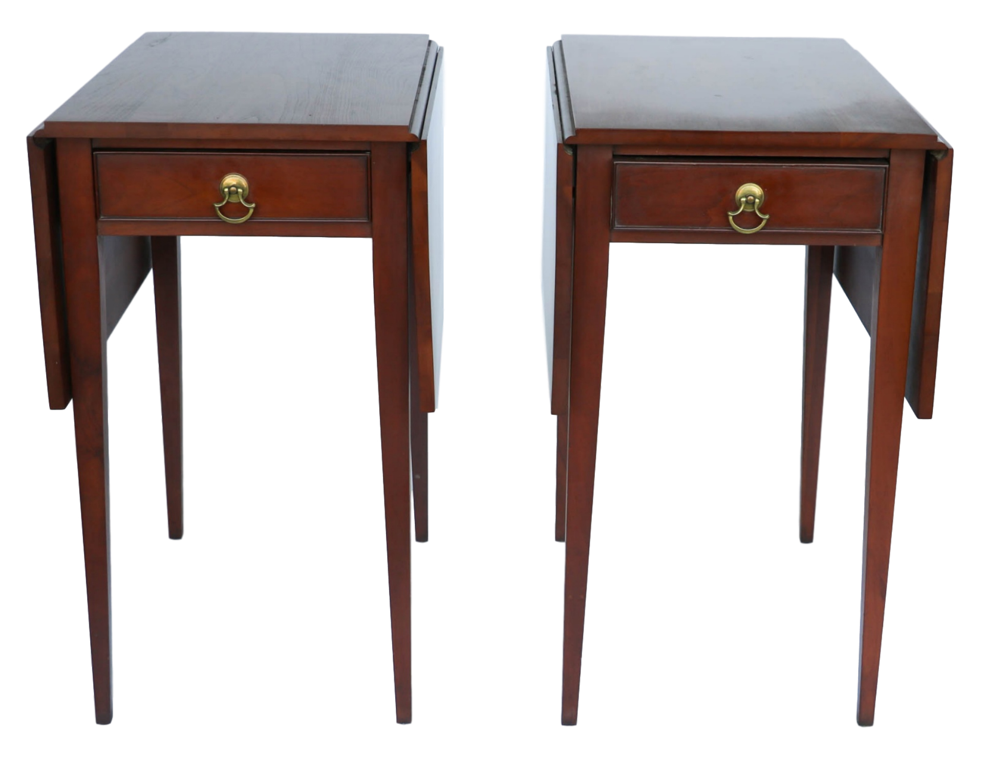 drop leaf end tables pilates henkel harris mahogany pembroke side table pair queen anne vintage travel trunk glass and metal accent designer lamp shades for lamps build your own