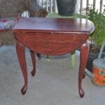 drop leaf side accent table distressed red vintage finds wood ikea desk white cloth tablecloths coastal inspired lamps small glass cocktail metal legs rustic couch winsome bird 150x150