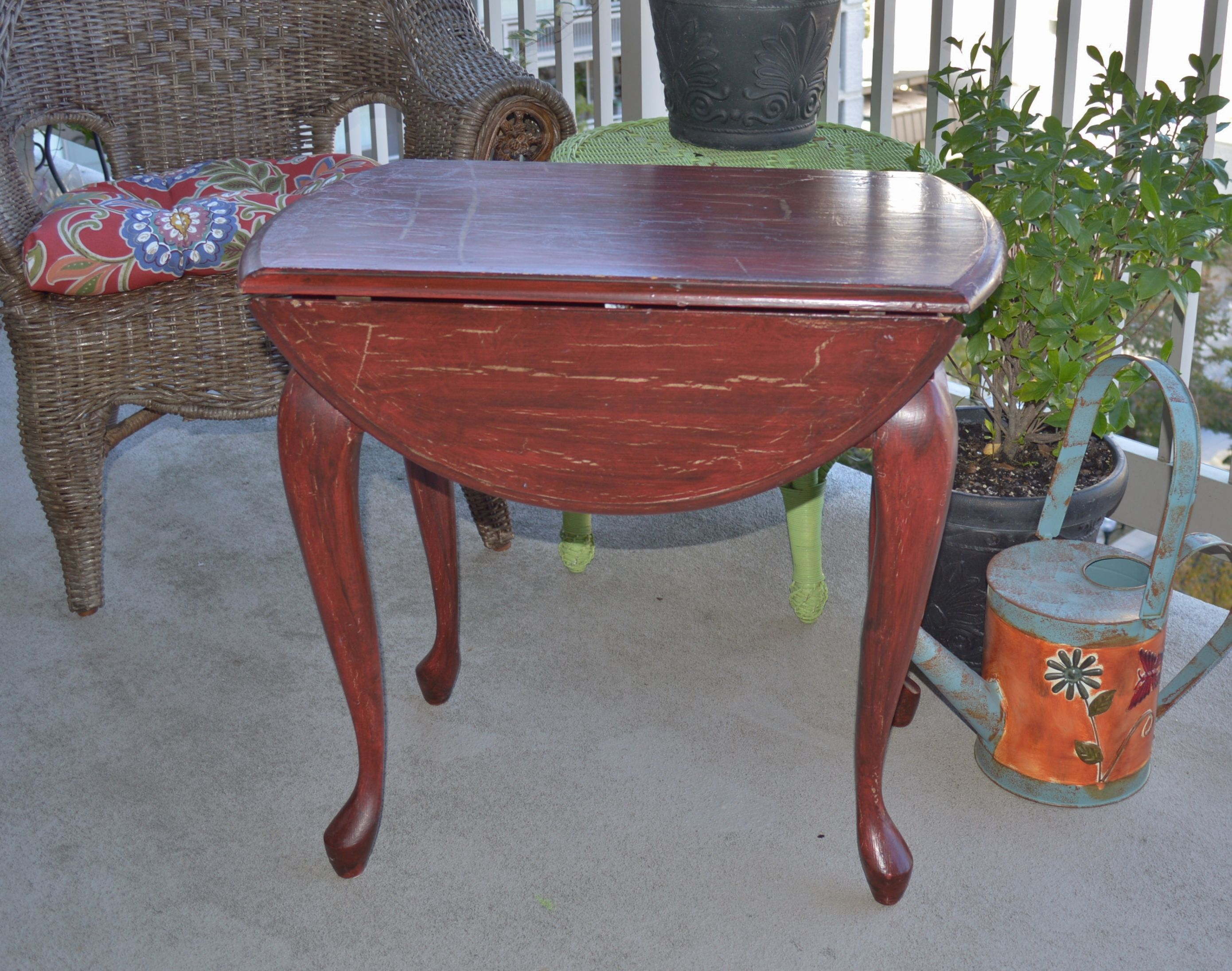 drop leaf side accent table distressed red vintage finds yellow lamp base nautical desk teal end narrow tables for bedroom modern clock small cherry wood round counter height