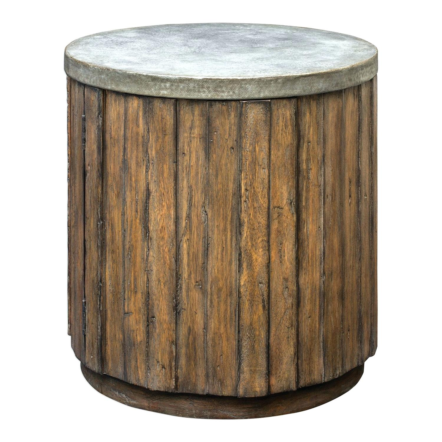 drum accent table manila cylinder brass metal side silver threshold entrance furniture long thin antique tables with drawers end toronto tall skinny reclaimed oak reviews harvest