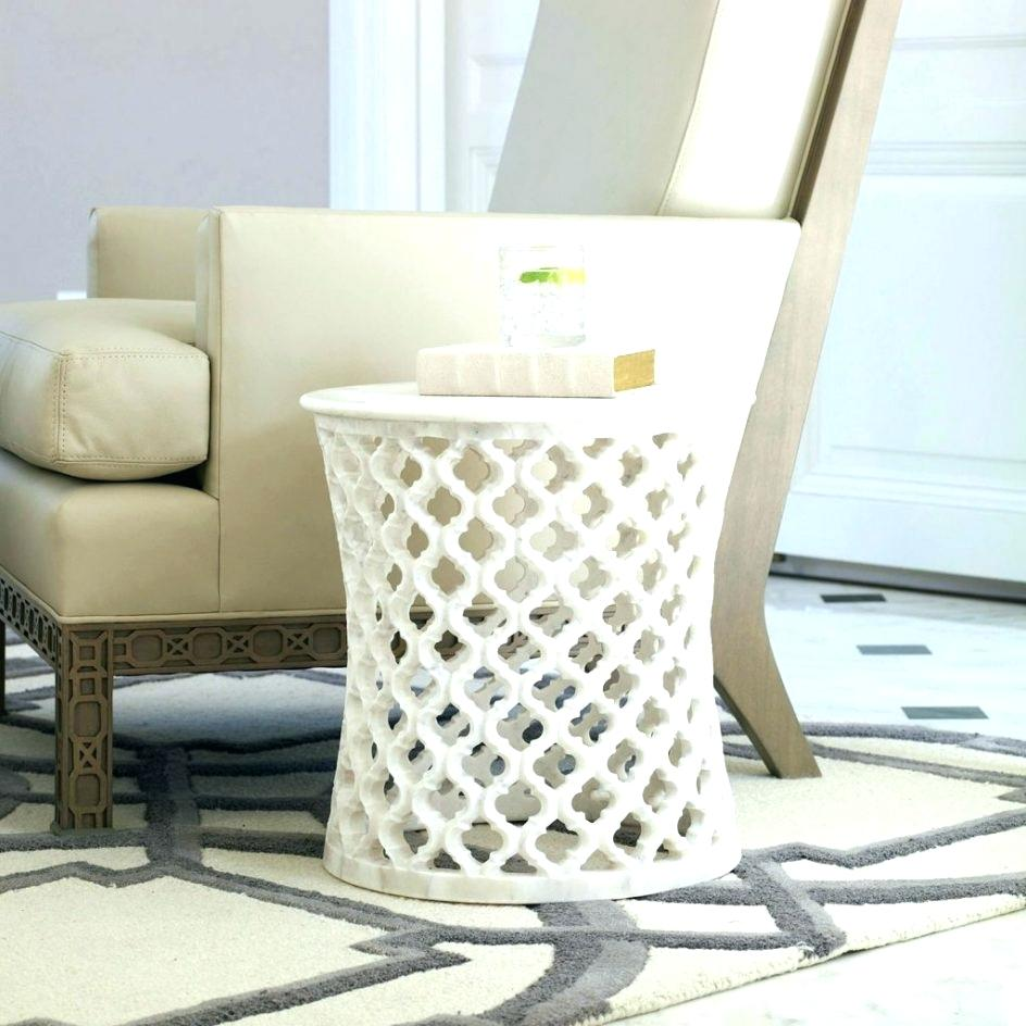 drum accent table threshold silver metal hnd storage target frog tables rectangular glass patio long behind couch over ikea french dining chairs baby furniture small rattan garden