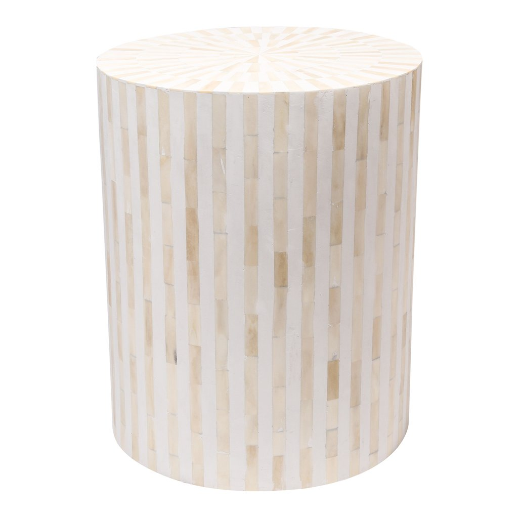drum accent table tops round side stripe white front bone inlay home nautical dining room lights marble top brass coffee wall furniture metal small modern gold navy blue narrow