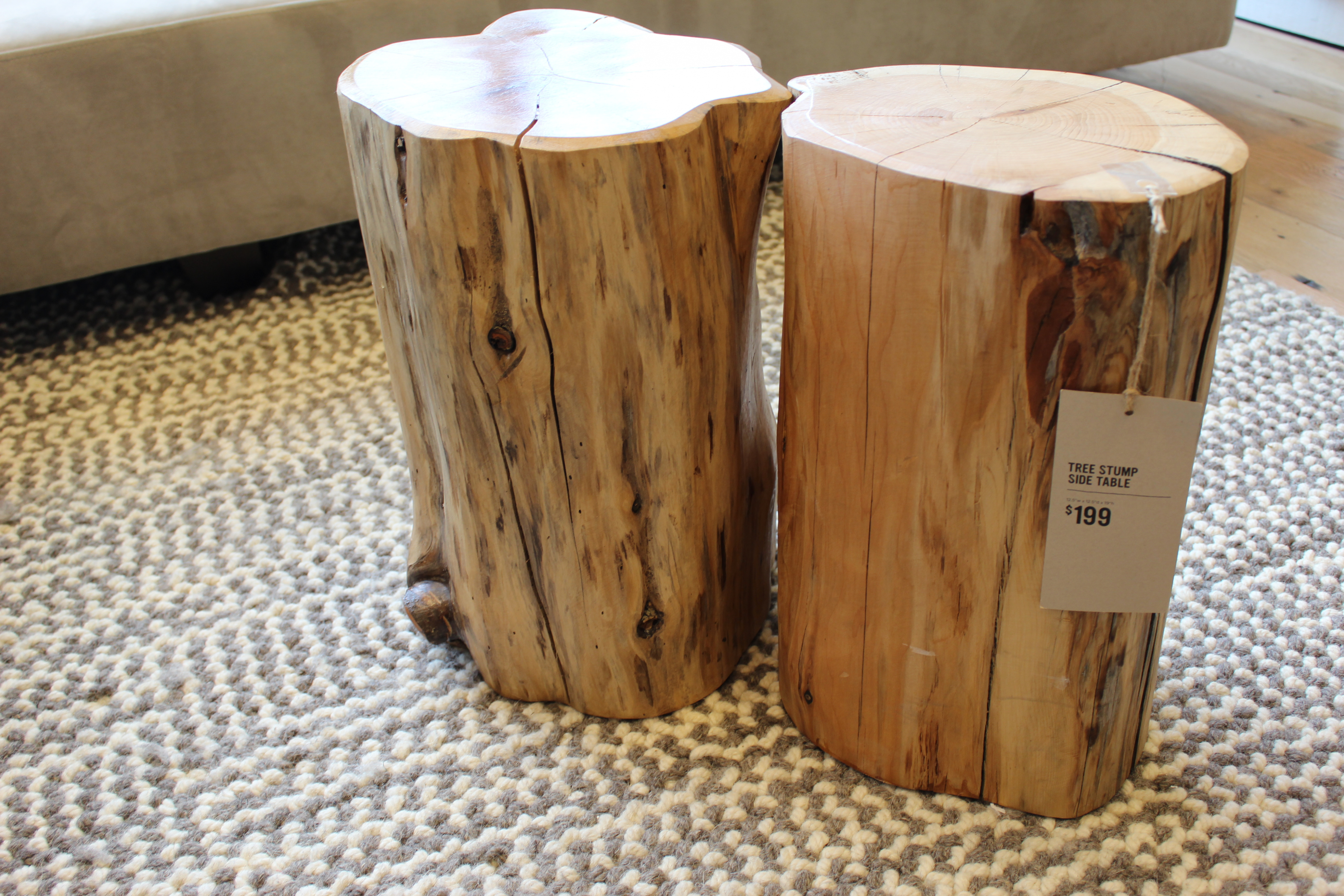 drum side table the perfect great log stump end diy wood top dining base legs for furniture parsons nightstand small plastic outdoor matching coffee and tables bedroom accent cool