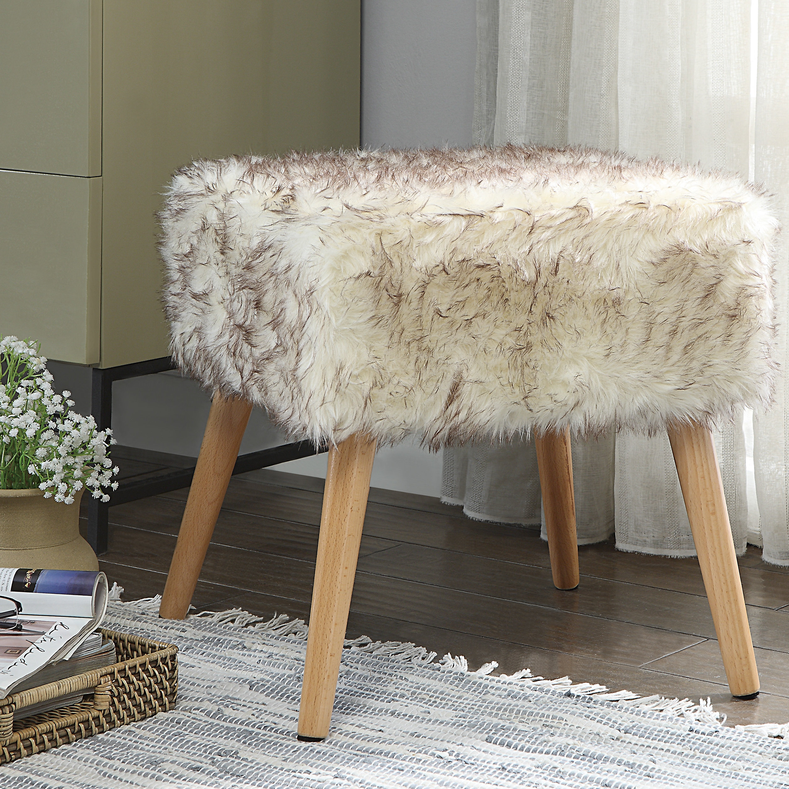 dukes chic faux fur vanity stool duke accent table pottery barn piece coffee set west elm design services homesense lamps real wood flooring end tables with storage space chinese