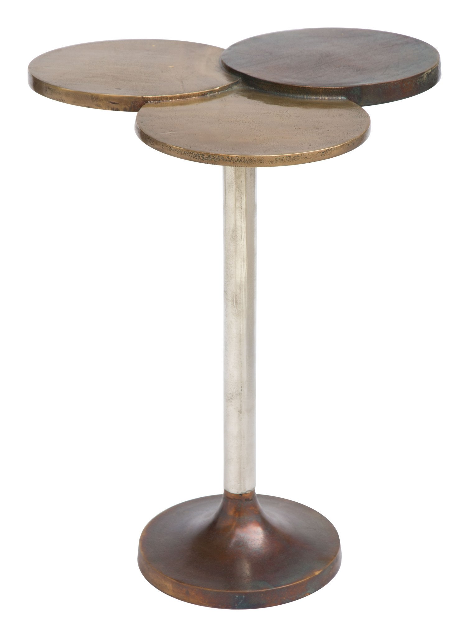 dundee accent table antique brass raw nickel blue side tables alan decor white hairpin legs gray end target round wood kitchen mirrored console wire plastic folding knotty pine
