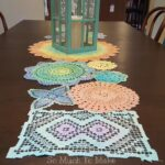 dyed vintage doily table runner much make coffee and end doilies high wood tables grey marble wooden dog house plans accent chairs for living room clearance swivel recliner 150x150