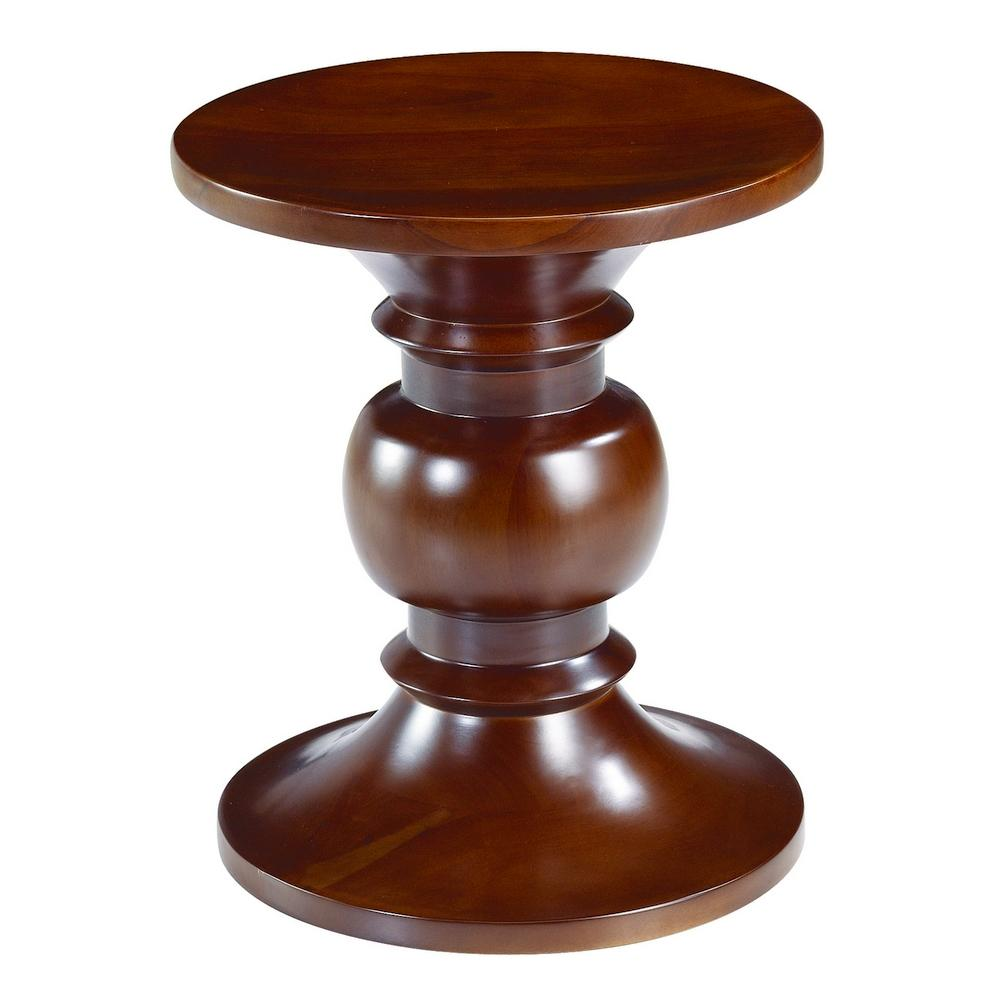 eames walnut stool style designdistrict signy drum accent table with marble top glass end tables target chrome nautical lights round removable legs antique rectangular high