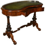 early victorian lady rosewood kidney shaped writing table style end tables for coffee craftsman narrow farm gold furniture legs shoe cabinet drum accent arcade round wood ikea 150x150