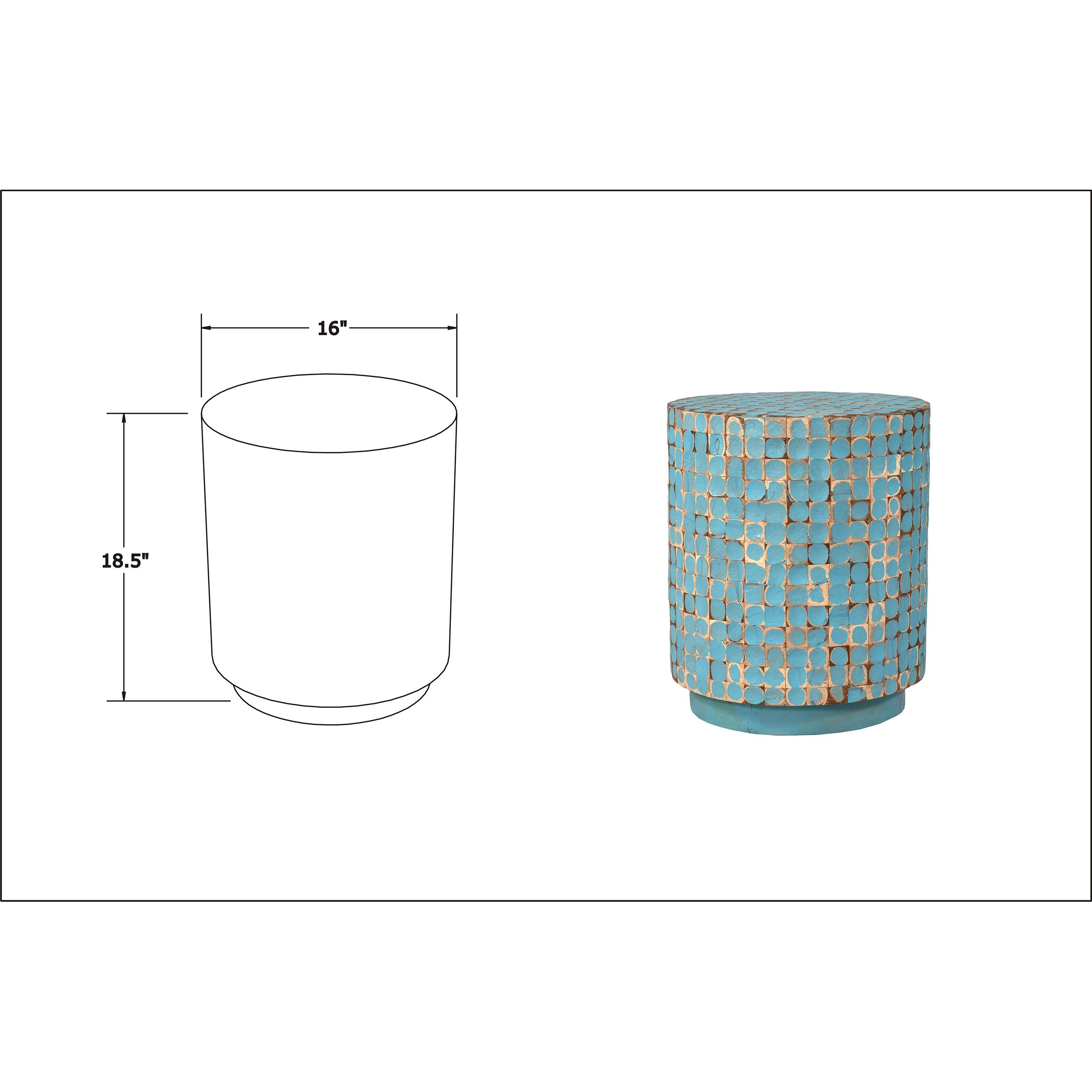 east main brillion blue round coconut shell accent table mains free shipping today foot console patio umbrella modern quilted runner patterns egg shaped coffee concrete furniture