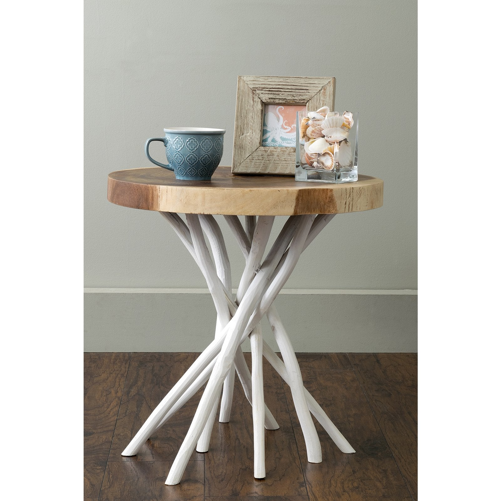 east main joeslin white teakwood round accent table mains wood tall pub and chairs drum end blue tables living room furniture half for hallway metal design small bedside lamps