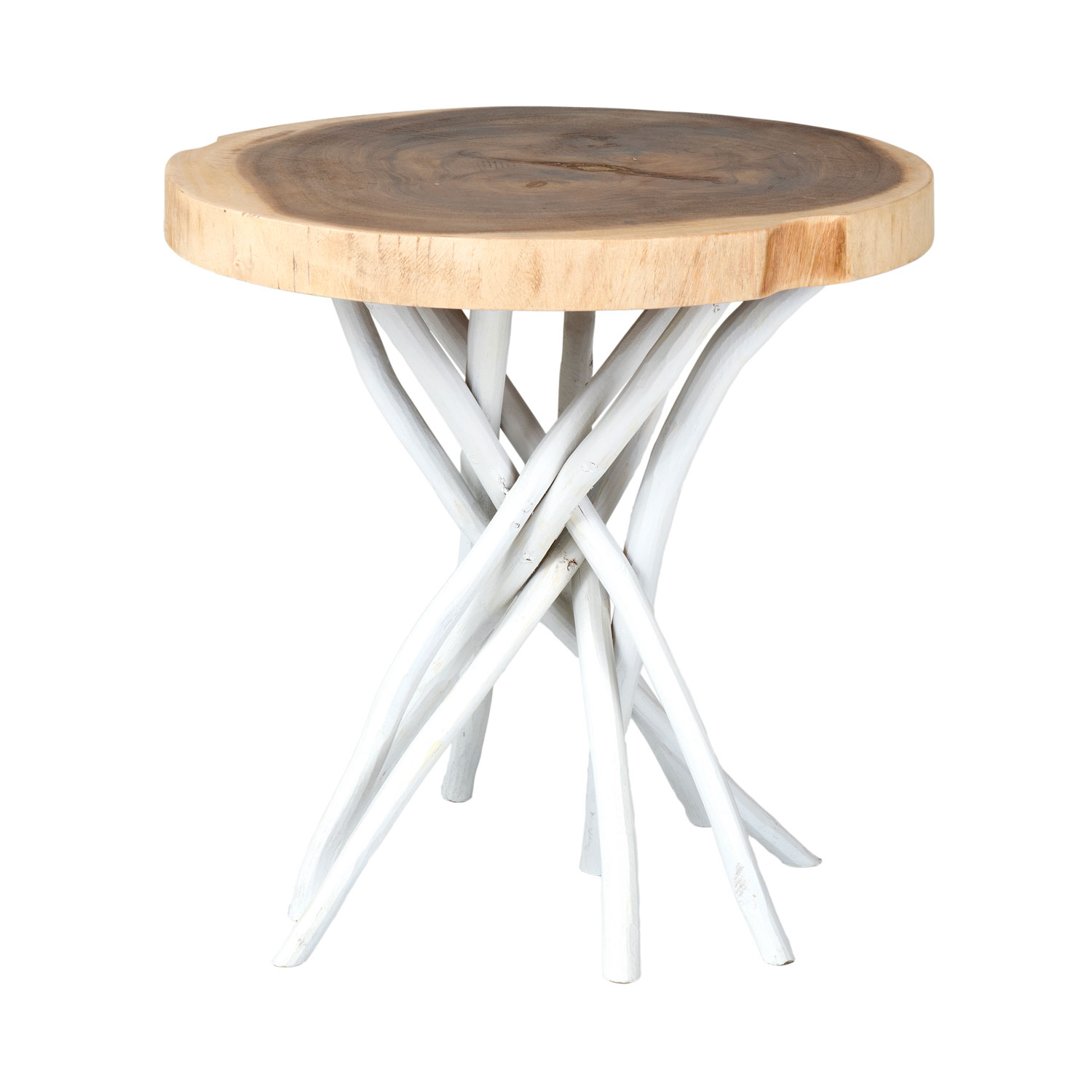 east main joeslin white teakwood round accent table teak wood hover zoom outdoor furniture patio side tables metal bar grey contemporary trestle dining pier room chairs sauder