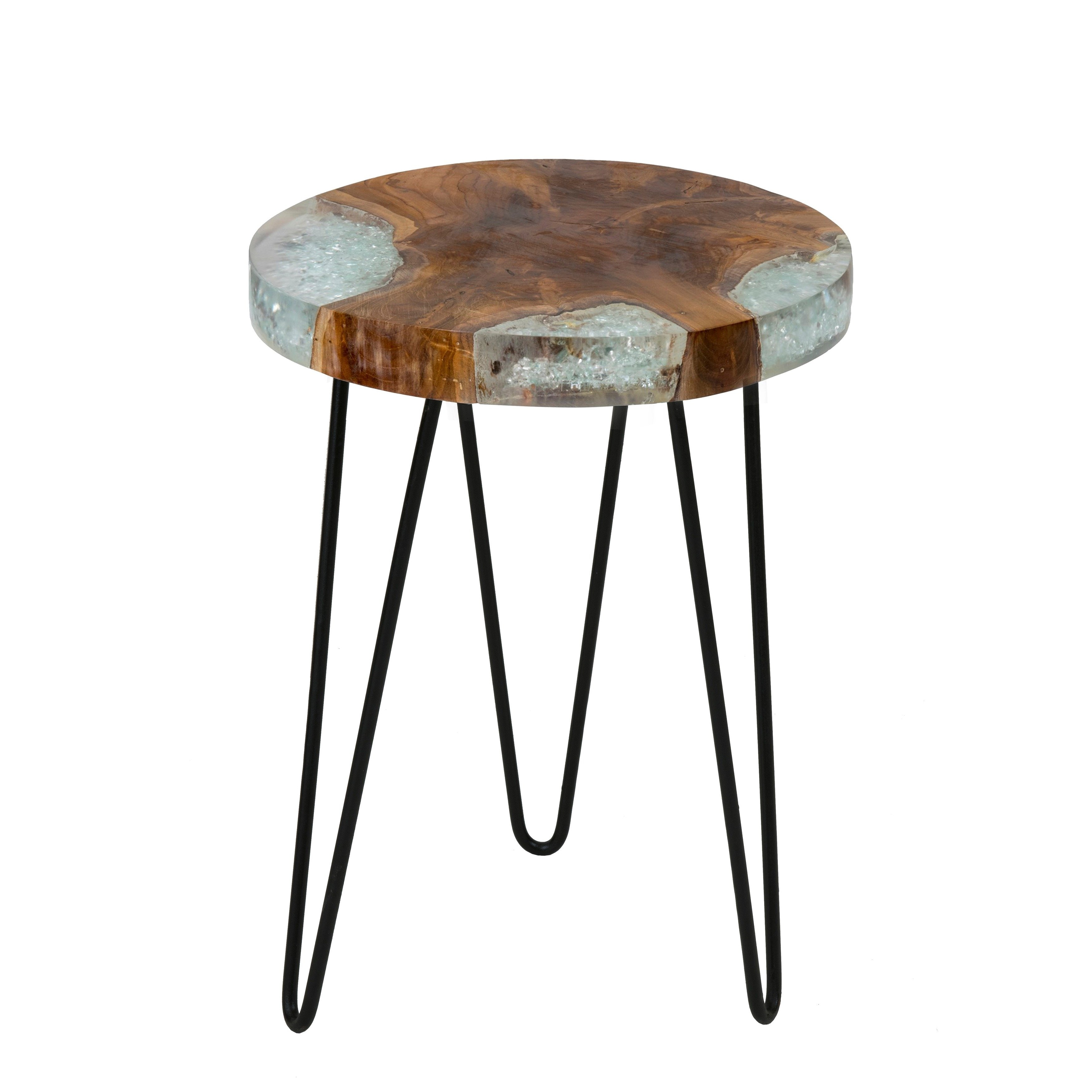 east main kakalina side table small icy wood with iron legs marble top accent round glass nesting tables frame floor length mirror touch lamp solid coffee drawers cast aluminum