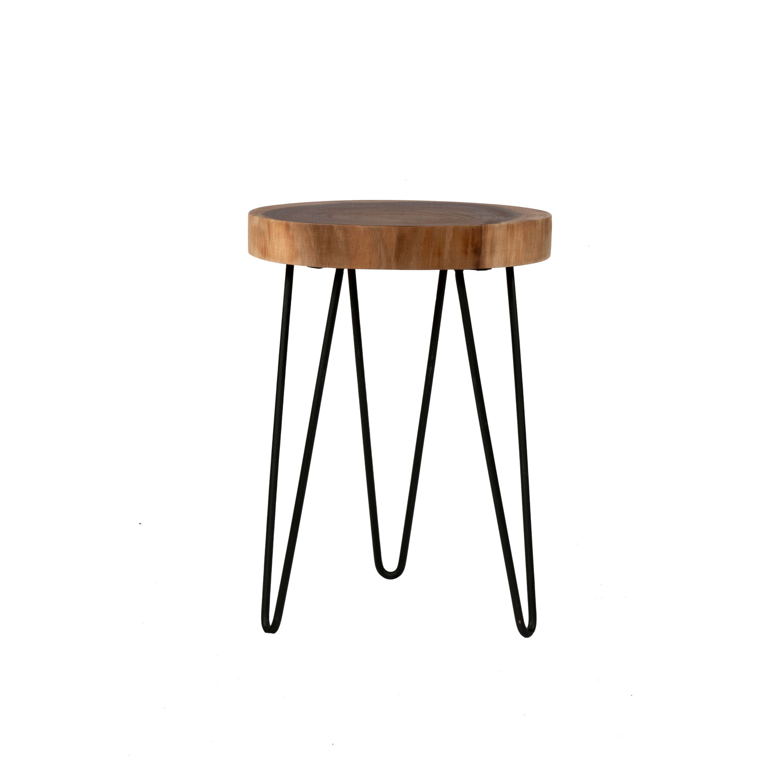 east main laredo brown teakwood round accent table hairpin leg hover zoom pottery barn drum decorative mirrors pine trestle led night light wood and iron coffee cherry dining