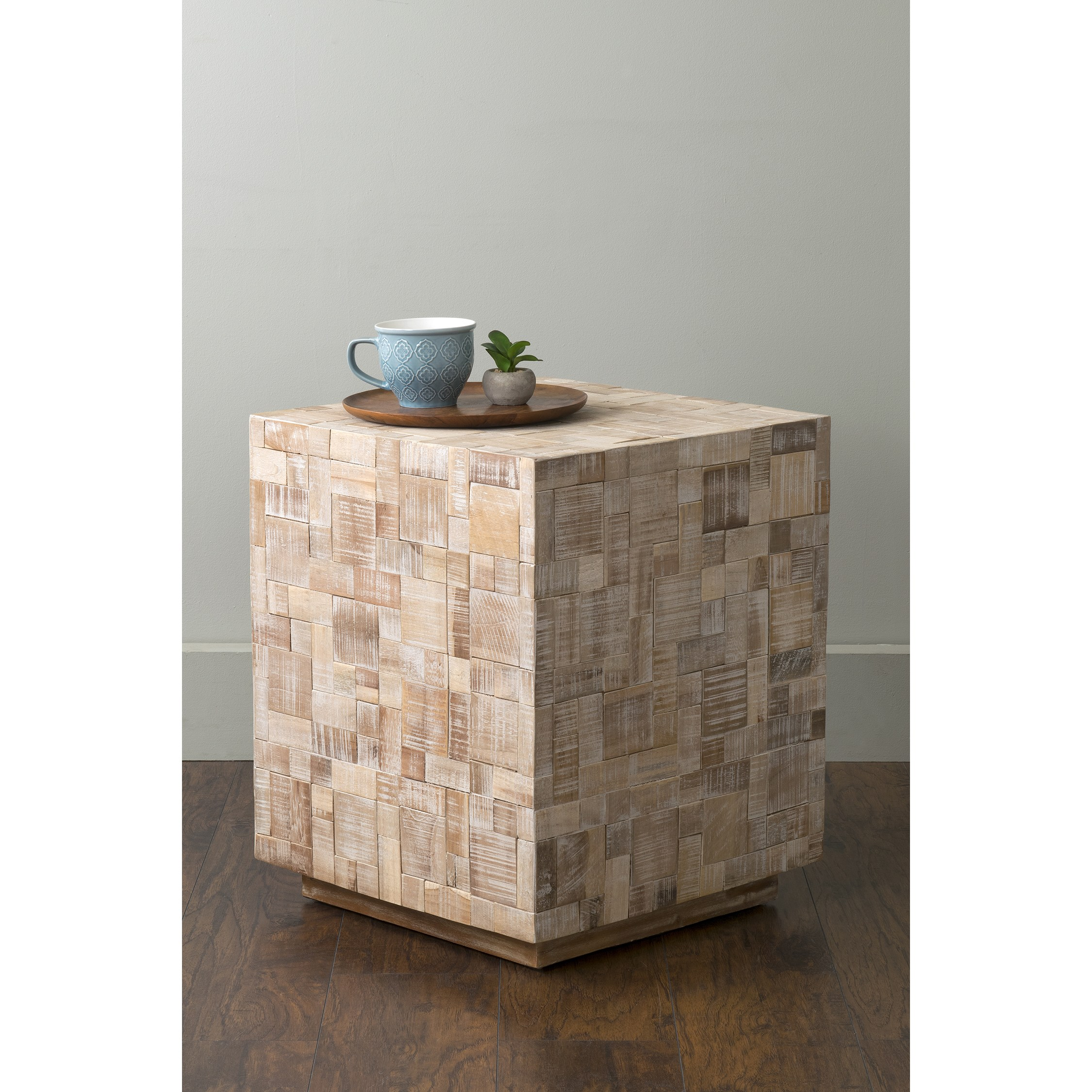 east main off white mosaic wood square accent mains table free shipping today garden supplies modern coffee with drawers wall decor ethan allen couches pull out sofa rectangular