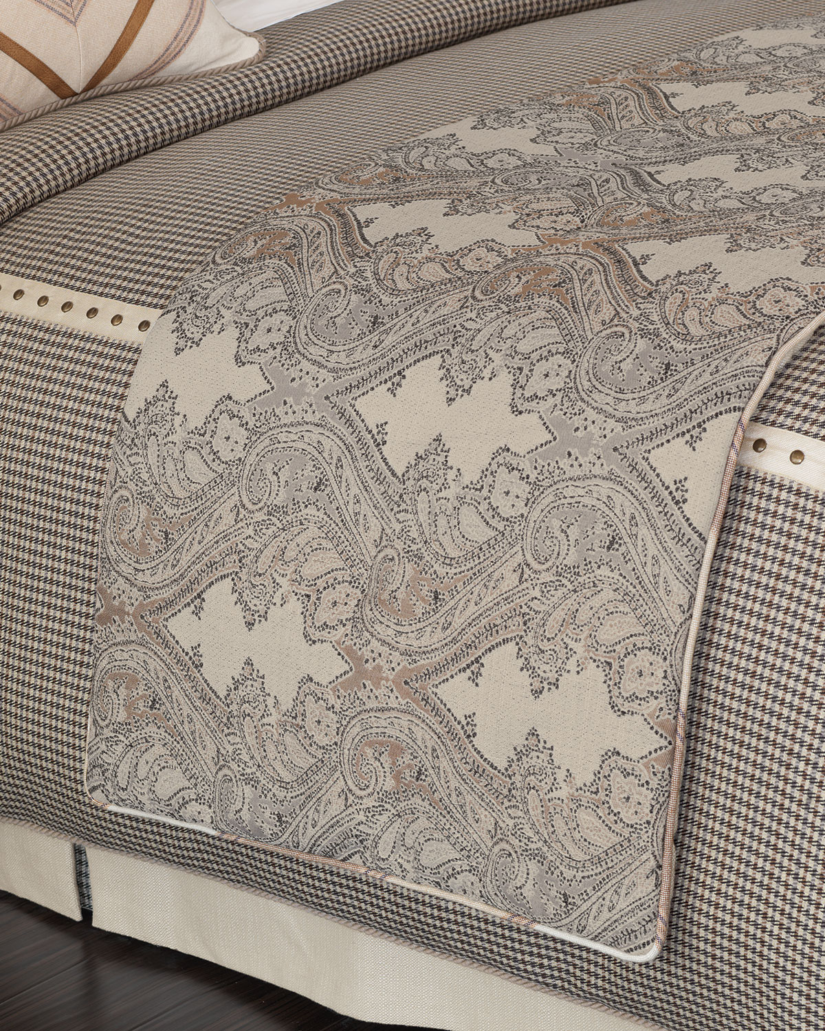 eastern accents king connor scarf neiman marcus artistic tablecloth better homes and gardens patio furniture dark wood bedside cabinets target threshold gold side table silver