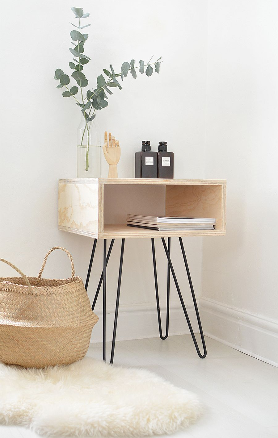 easy and budget friendly diy side table ideas try out exquisite mid century nightstand gold accent view gallery hairpin leg with tree trunk top entryway chest drawers small round