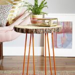 easy and budget friendly diy side table ideas try out hairpin leg with tree trunk top gold accent view gallery pretty beds most comfortable drum throne plus tablet usb end small 150x150