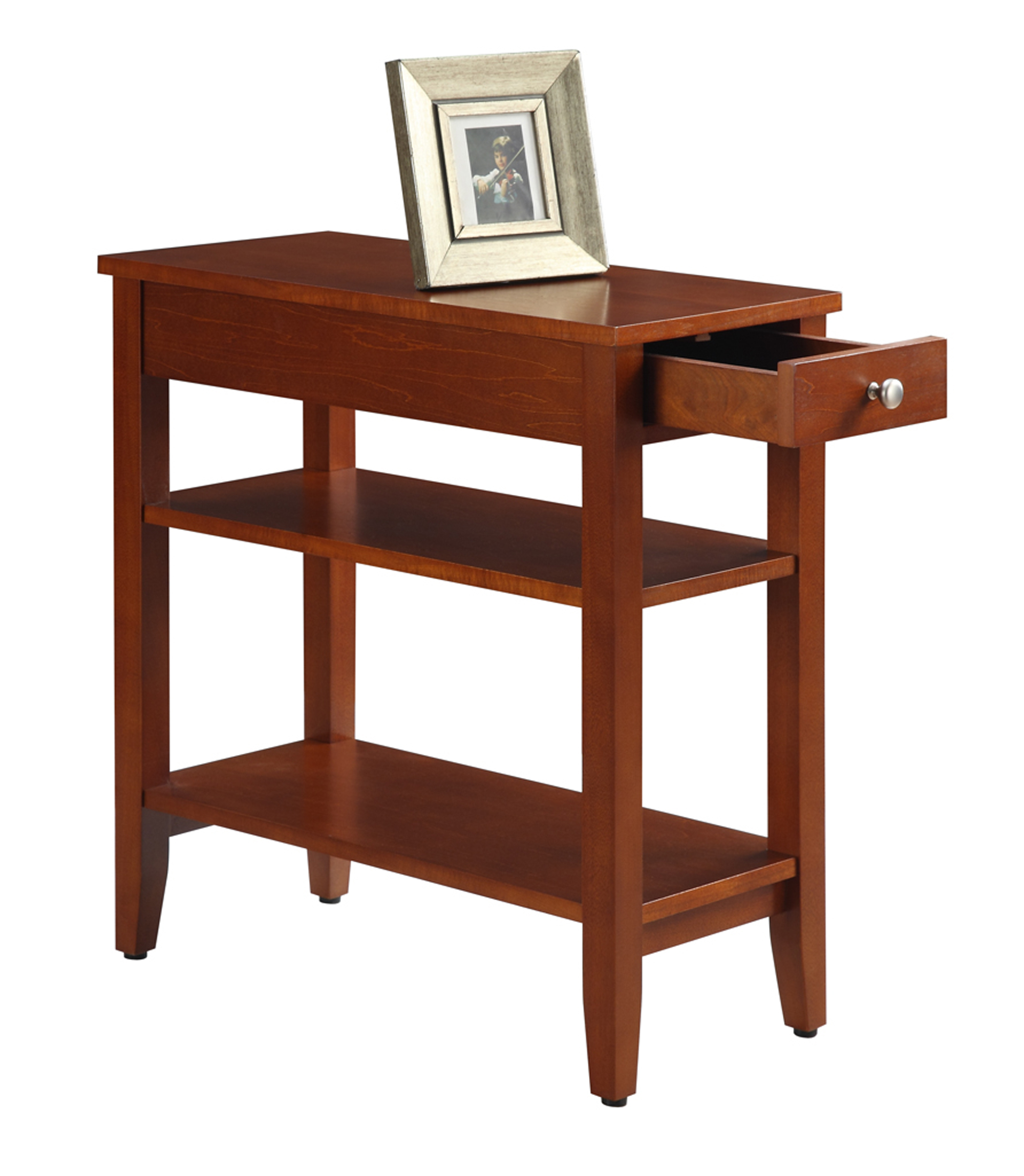 easy pieces espresso drawer end table nightstand platform with american heritage three tier hafley accent target patio tray steel coffee plastic side fancy lamps dale tiffany lily