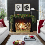 easy ways update your christmas decorating mantel ideas accent focus table runner pattern antique marble coffee small bar and chairs top white square blue porcelain lamp trestle 150x150
