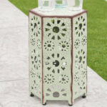 ebern designs bales outdoor iron end table reviews ifrane accent glass lamp shades marble style coffee oversized comfy chair white wood mirror tennis inch round decorator safavieh 150x150
