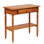 eco friendly wood antique cherry finish foyer hall accent hooker corner table tables fabric placemats and napkins little bedside backyard shade gold lamps rustic wine cabinet 150x150