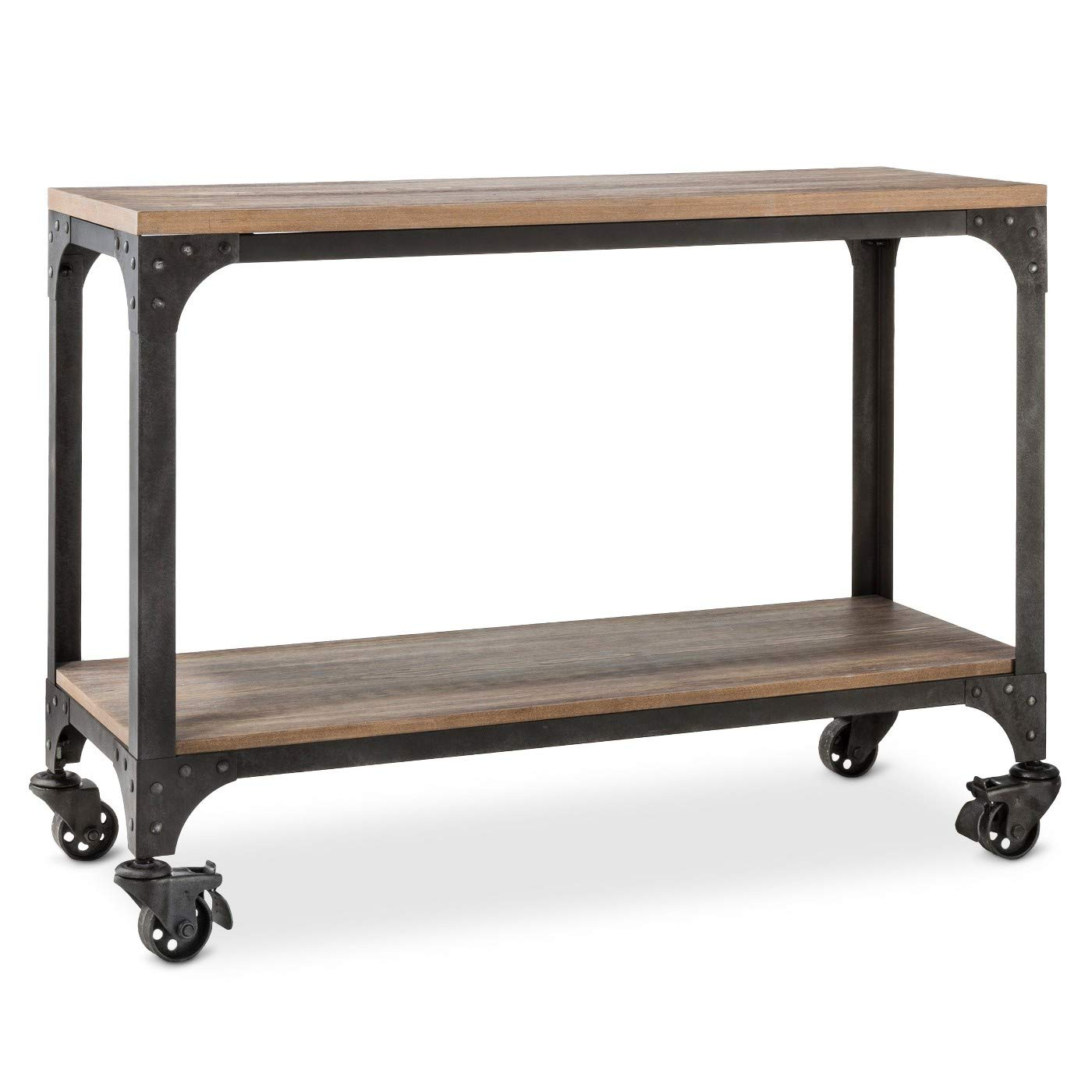 ecom franklin console table the industrial chic accent kitchen dining metal top side large circular tablecloths look tables torch lamp umbrella stand square coffee with storage
