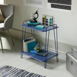 eden rue blue metal accent table accents woodworking and metals brass frame coffee sofa clear acrylic ice bucket holder side mini lamp french farmhouse standard height with drink 150x150